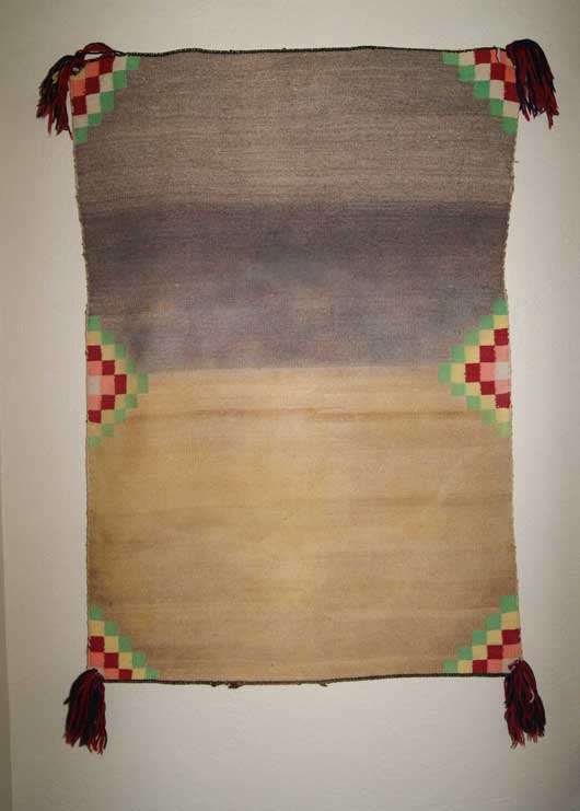 Open Field Navajo Double Saddle Blanket with Germantown Yarn