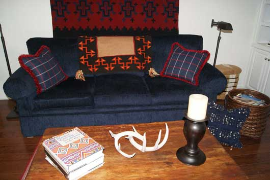 Open Field Navajo Single Saddle Blanket