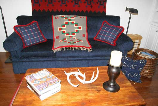 Germantown Navajo Weaving 3 Diamond Layout