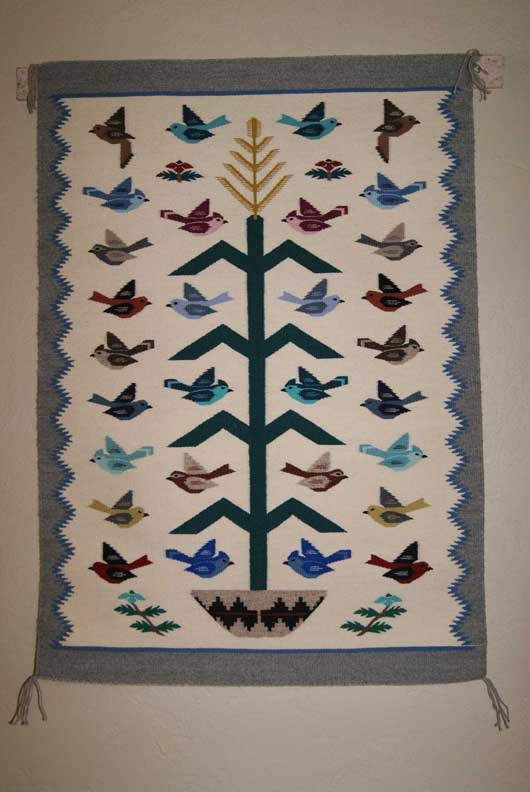 Tree Of Life Navajo Weaving 759