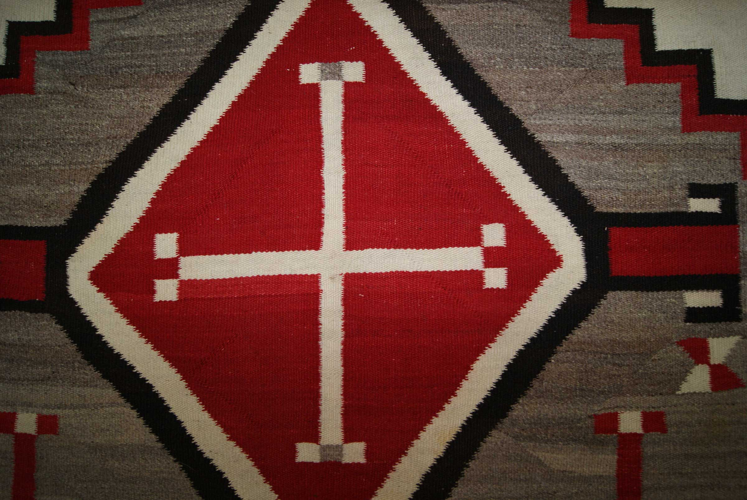 J B Moore Crystal Trading Post Navajo Rug