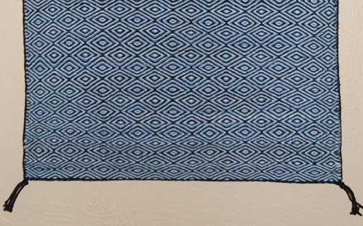 Blue Diamond Twill Navajo Weaving