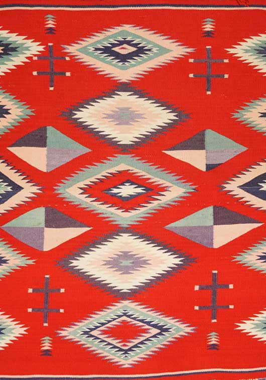 Navajo Germantown Sunday Saddle Blanket