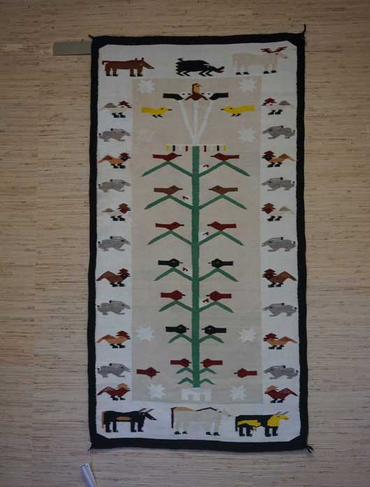 Tree of Life Pictorial Navajo Weaving