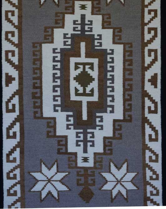 Two Grey Hills Navajo Rug 810
