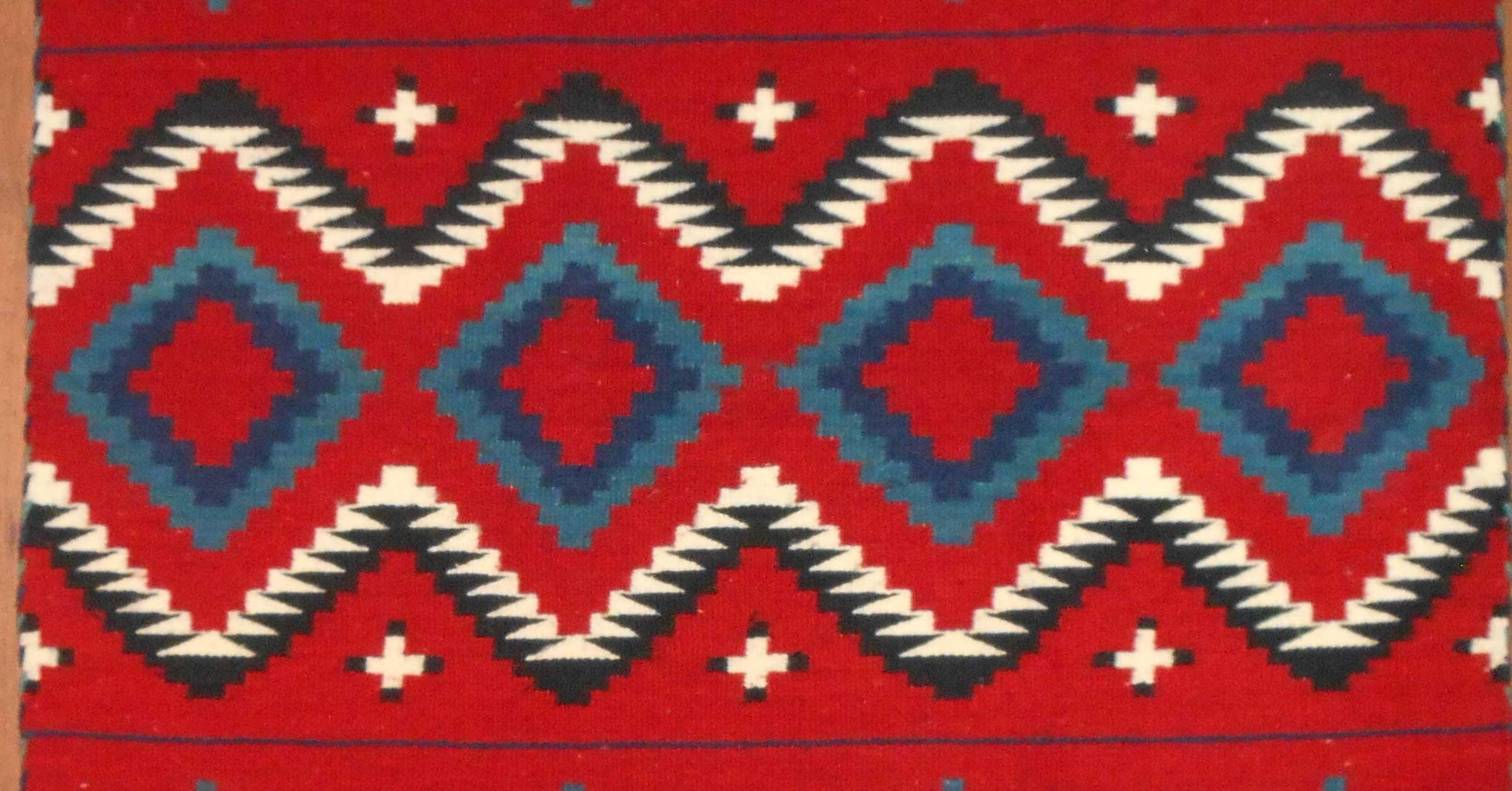 Contemporary Navajo Rug In A Late Classic Period Design