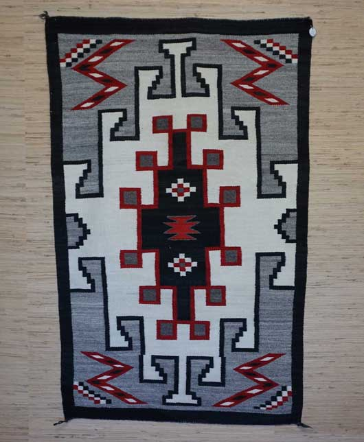 JB Moore Crystal Trading Post Double Navajo Saddle Blanket