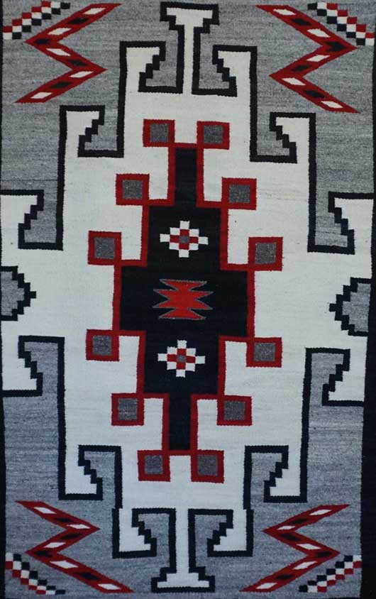 JB Moore Crystal Trading Post Double Navajo Saddle Blanket 828