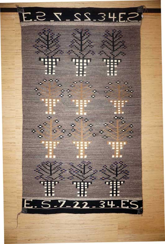 An Example of Folk Art in a Navajo Rug from July 22, 1934