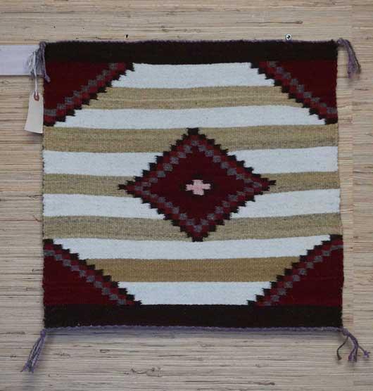 Navajo Single Saddle with Diamond in Center and Quarter Diamonds in the Corners
