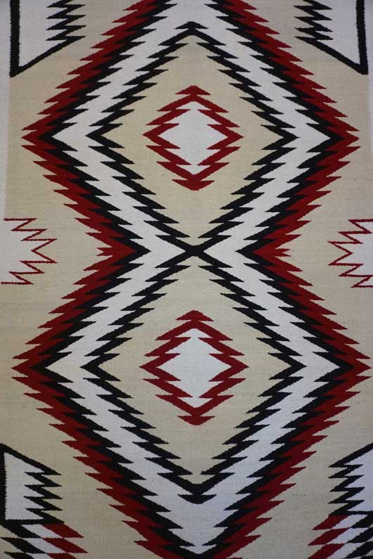 JB Moore Crystal Trading Post Navajo Rug with Double Diamonds