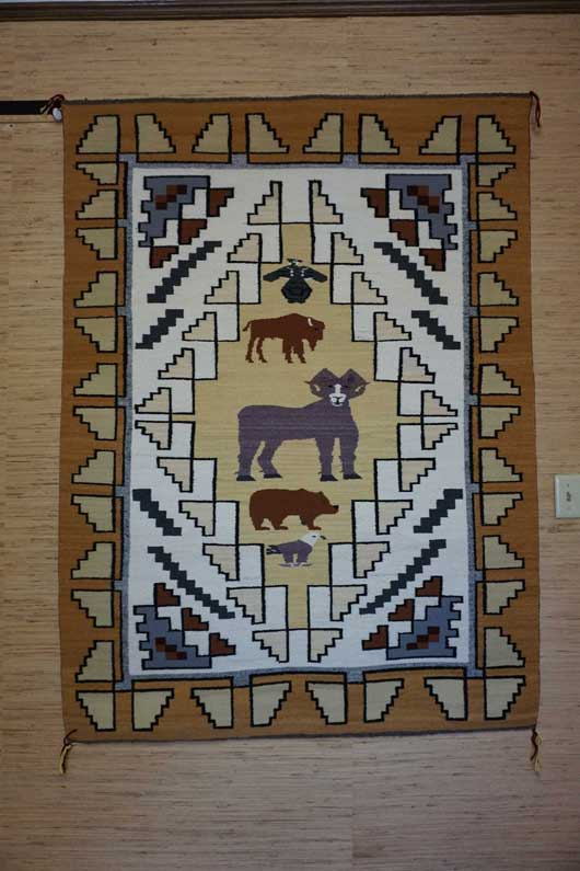 Navajo Pictorial Rug by Efre Black