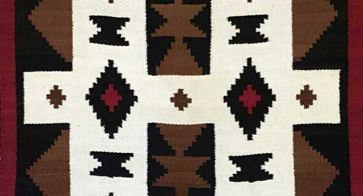 JB Moore Crystal Trading Post Navajo Rug