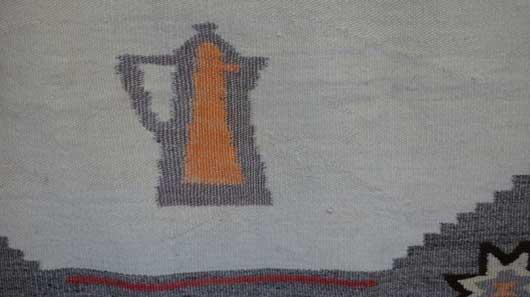 Navajo Pictorial Double Saddle Blanket