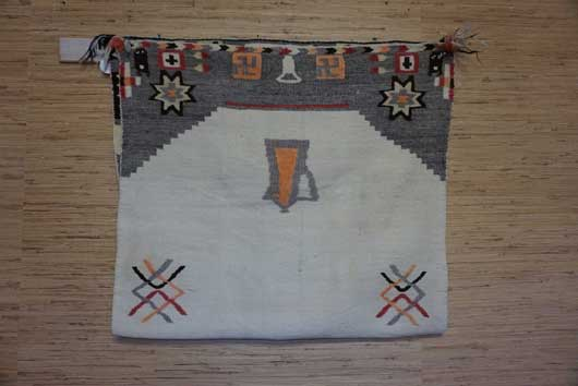Navajo Pictorial Double Saddle Blanket