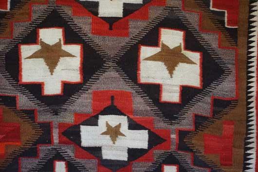 JB Moore Crystal Trading Post Pictorial Navajo Rug