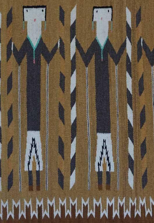Yei Navajo Rug Circa 1960 for Sale