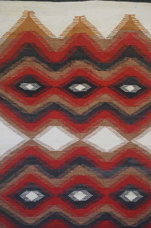A Banded Navajo Rug for Sale with Weaving Combs in the Design 979 for Sale