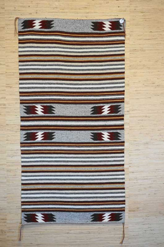 Banded Navajo Rug Weaving for Sale Double Saddle Blanket by Marie Watson 919