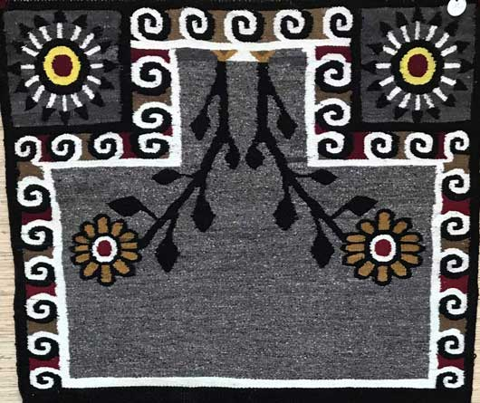 Bisti Double Navajo Saddle Blanket 625