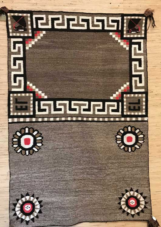Bisti Double Navajo Saddle Blanket 661