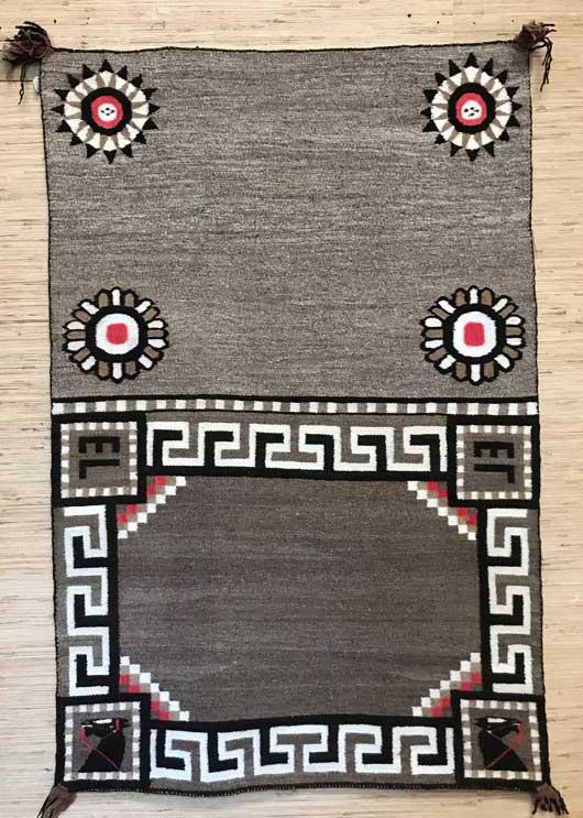 Bisti Double Navajo Saddle Blanket 661