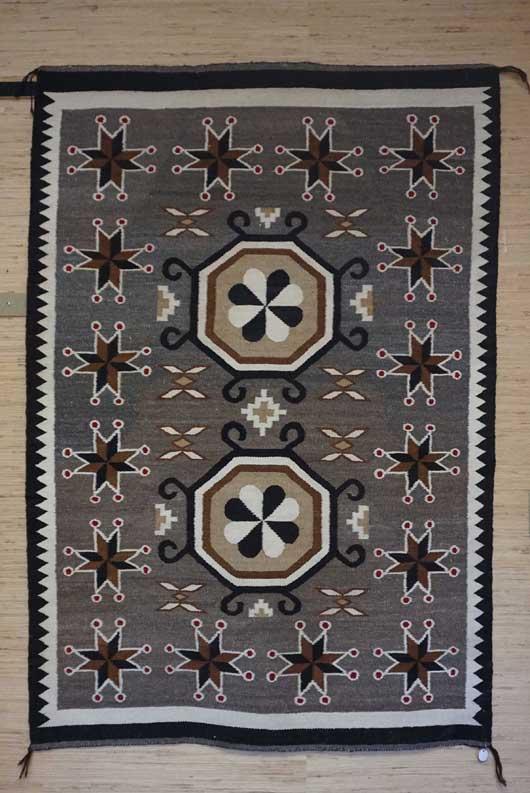 Bisti Navajo Rug with Cherries 743 Photo 001