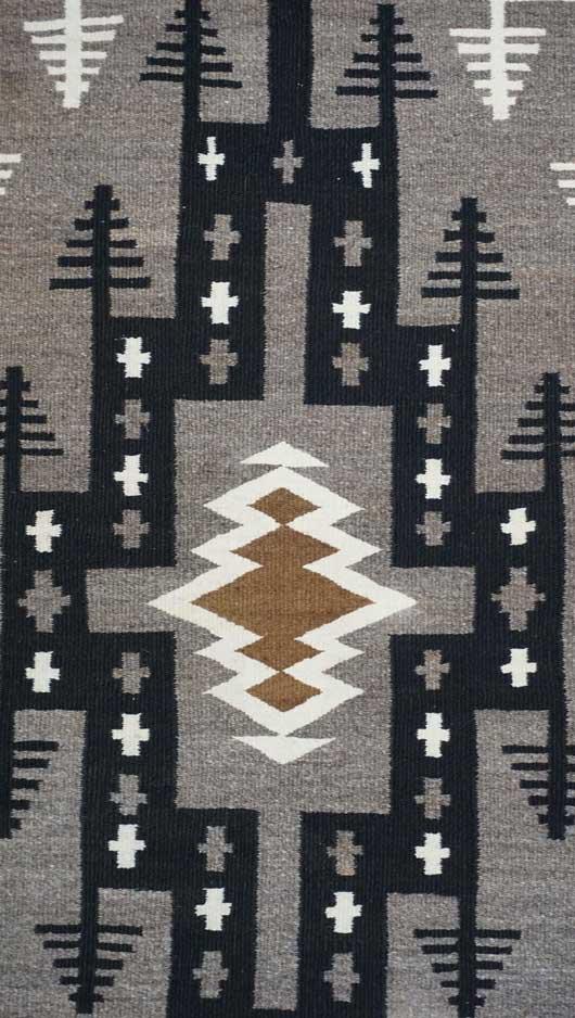 Bisti Style Navajo Rug Weaving
