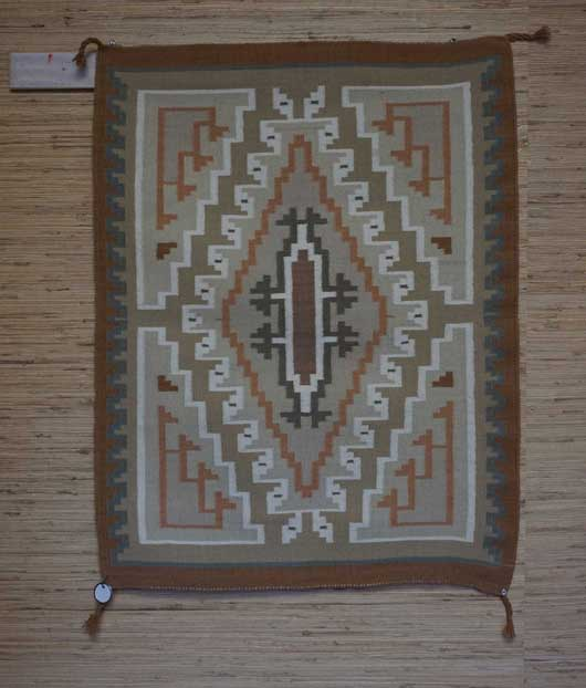 Burntwater Navajo Weaving for Sale by Evea Begay 966 for Sale