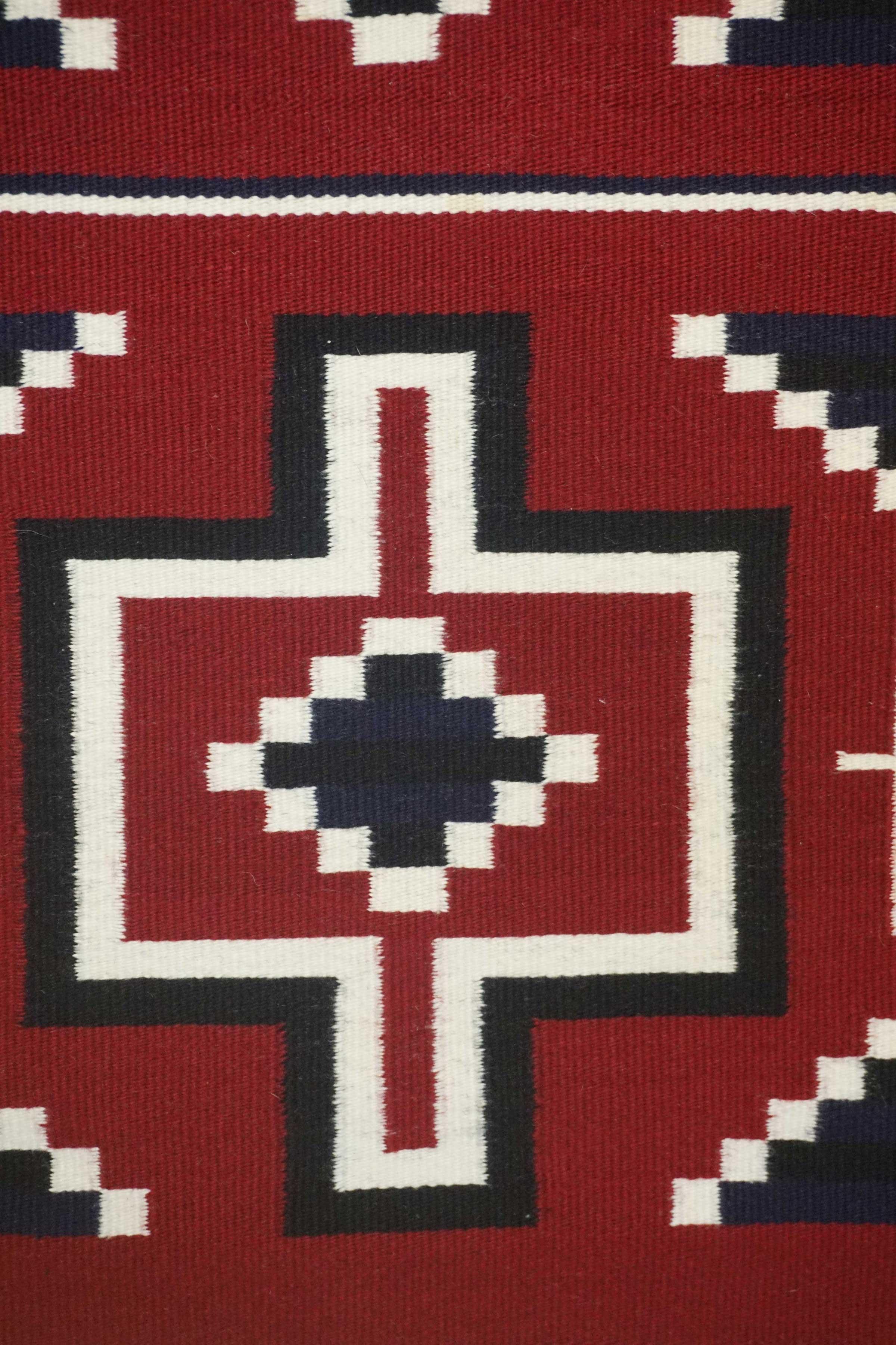 Contemporary Ganado Navajo Rug With A Hubble Revival