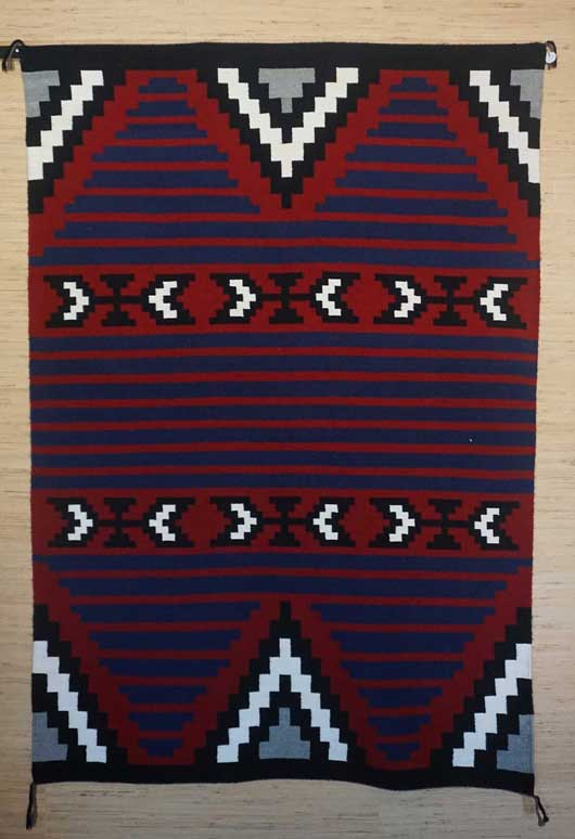 Contemporary Moki Style Navajo Rug for Sale 1044