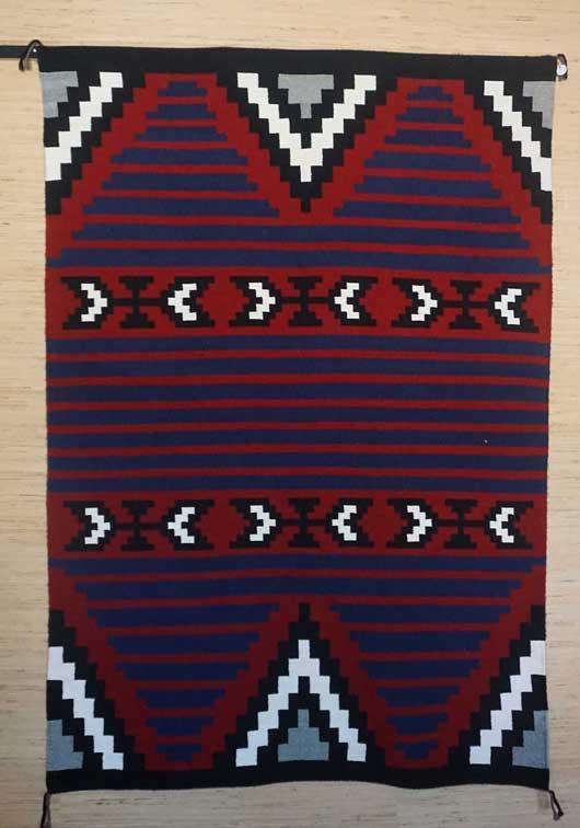 Contemporary Moki Style Navajo Rug for Sale 1044