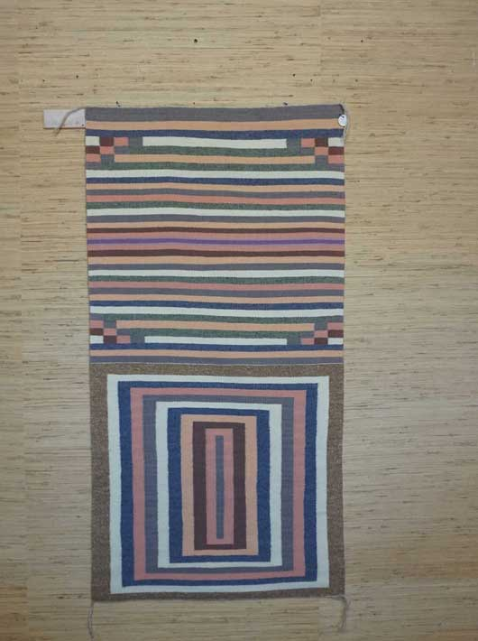 Contemporary Navajo Double Saddle Blanket by Alice King 918