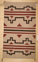 Navajo Rug with a Stepped Design