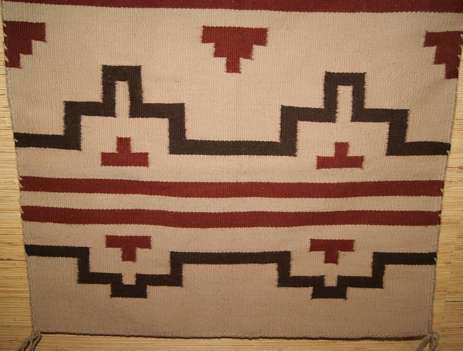Navajo Rug with a Stepped Design For Sale