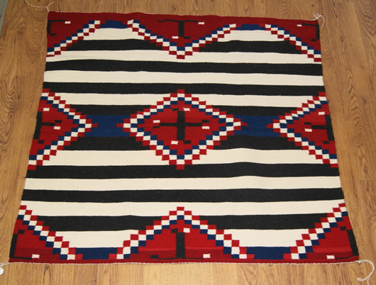 Third Phase Navajo Chief S Blanket With Spider Woman