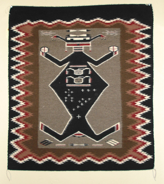 Pictorial Mother Earth Navajo Rug Weaving For Sale Circa 1980