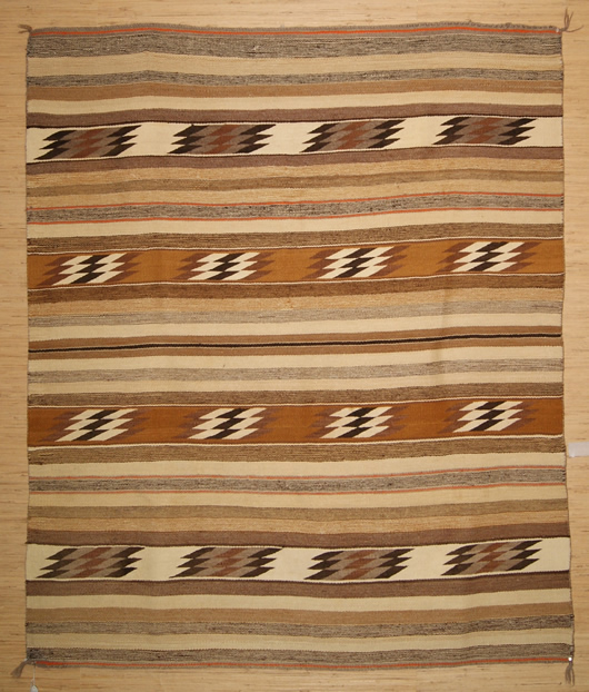 Chinle Banded Navajo Rug Weaving