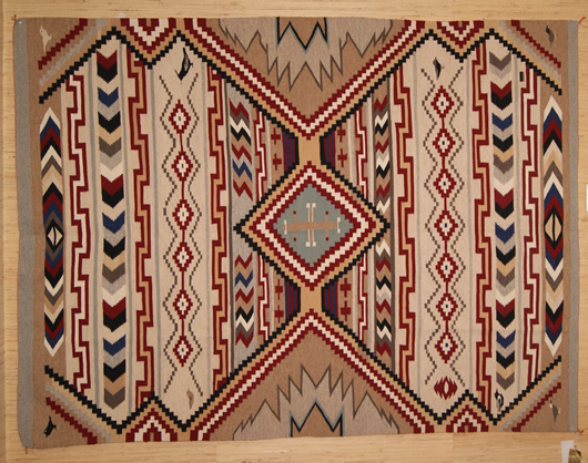 Revival Chief White Antelope Navajo Blanket Circa 1990