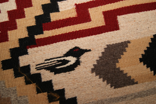 Chief White Antelope Revival Contemporary Navajo Rug For Sale Circa 1990 Photo 2