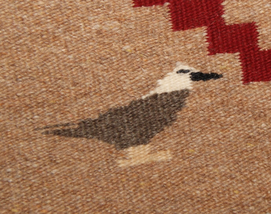 Chief White Antelope Revival Contemporary Navajo Rug For Sale Circa 1990 Photo 3