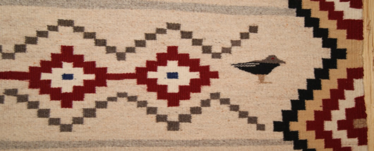 Chief White Antelope Revival Contemporary Navajo Rug For Sale Circa 1990 Photo 5