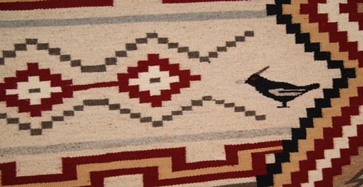 Chief White Antelope Revival Contemporary Navajo Rug For Sale Circa 1990 Photo 6