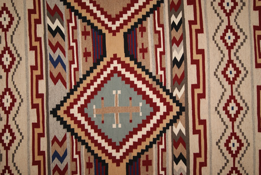 Chief White Antelope Revival Contemporary Navajo Rug For Sale Circa 1990 Photo 9