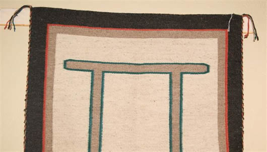 Custom Navajo Blanket with Gemini Symbol Photo 2