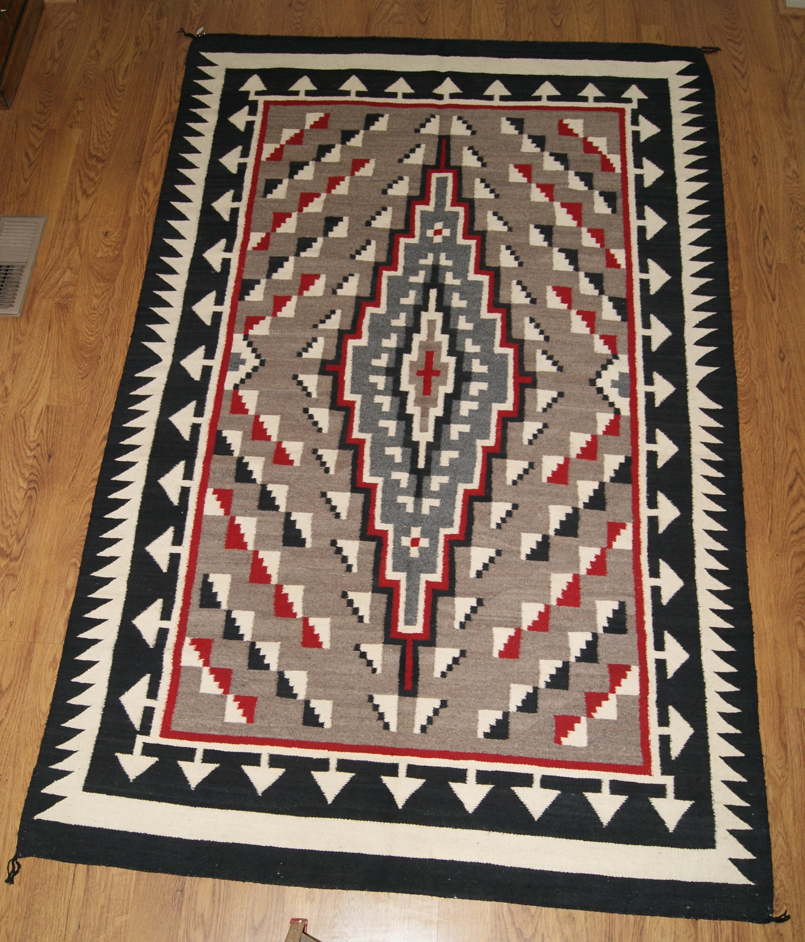 Circa 1960 Klagetoh Navajo Rug Weaving