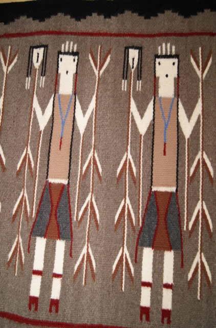 Five Female Yei Navajo Rug Weaving For Sale