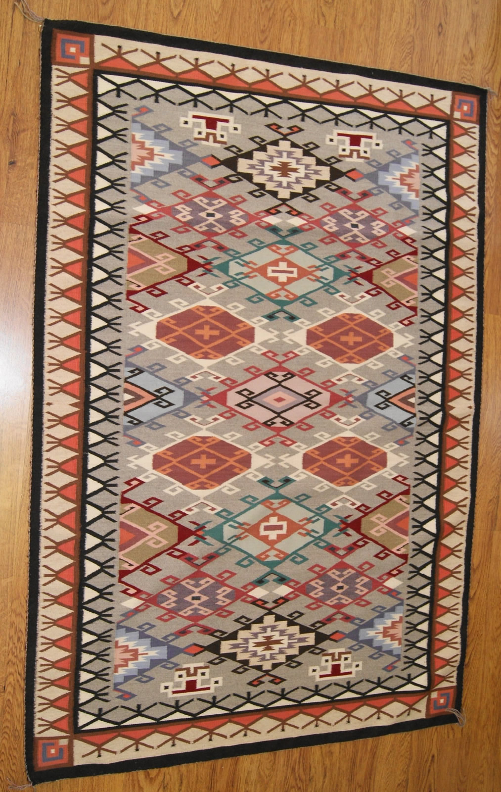 Contemporary Old Style Crystal Navajo Weaving For Sale
