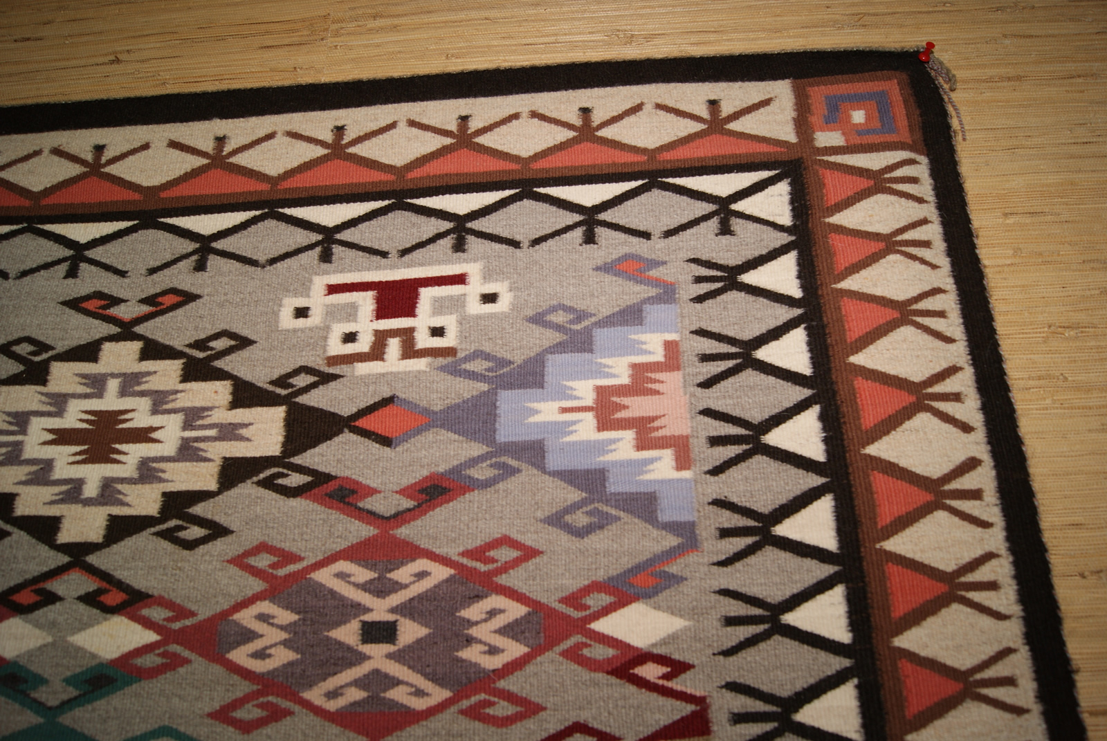 Contemporary Old Style Crystal Navajo Weaving For Photo 3
