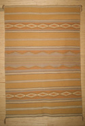 Contemporary Vegetal Dyed Wide Ruins Navajo Weaving Circa 1967 For Sale
